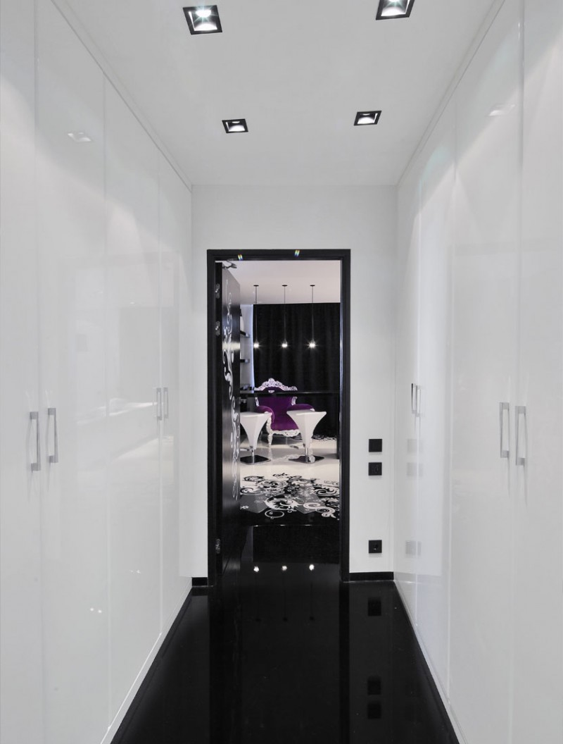 Project Begovaya Stunningly Stylish Interiors In Striking Black And White