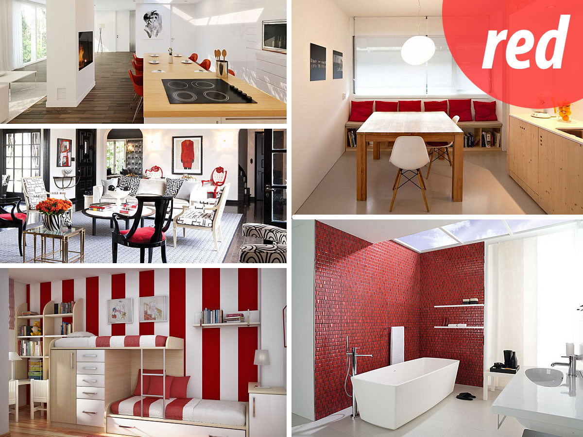 design with red How to Decorate with Shades of Red