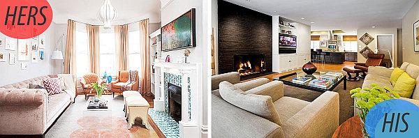 feminine masculine living rooms ideas