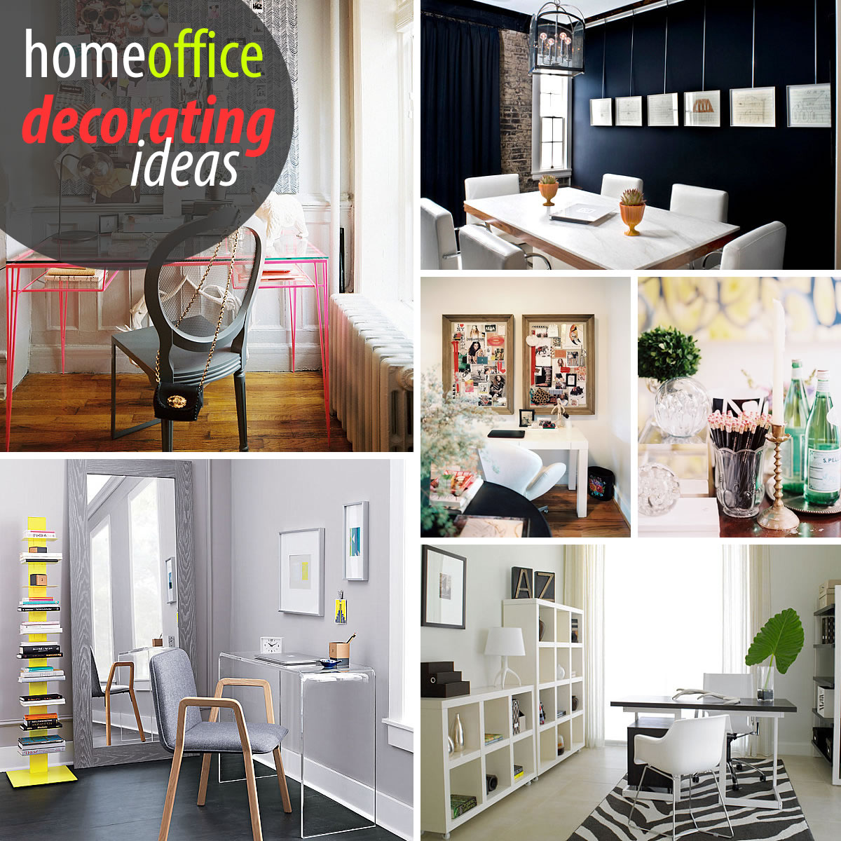 Creative home office decorating ideas Small office makeover ideas