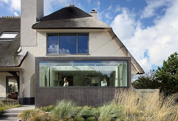 Rustic Dutch Seaside Residence Gets a Modern Makeover Capped With a Thatched Top