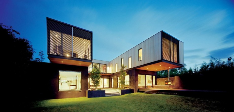modern volumetric house