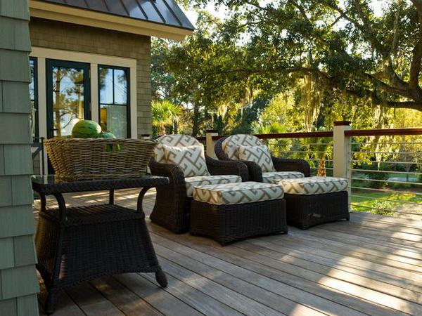 Deck of the HGTV Dream Home 2013 located on Kiawah Island in South Carolina.