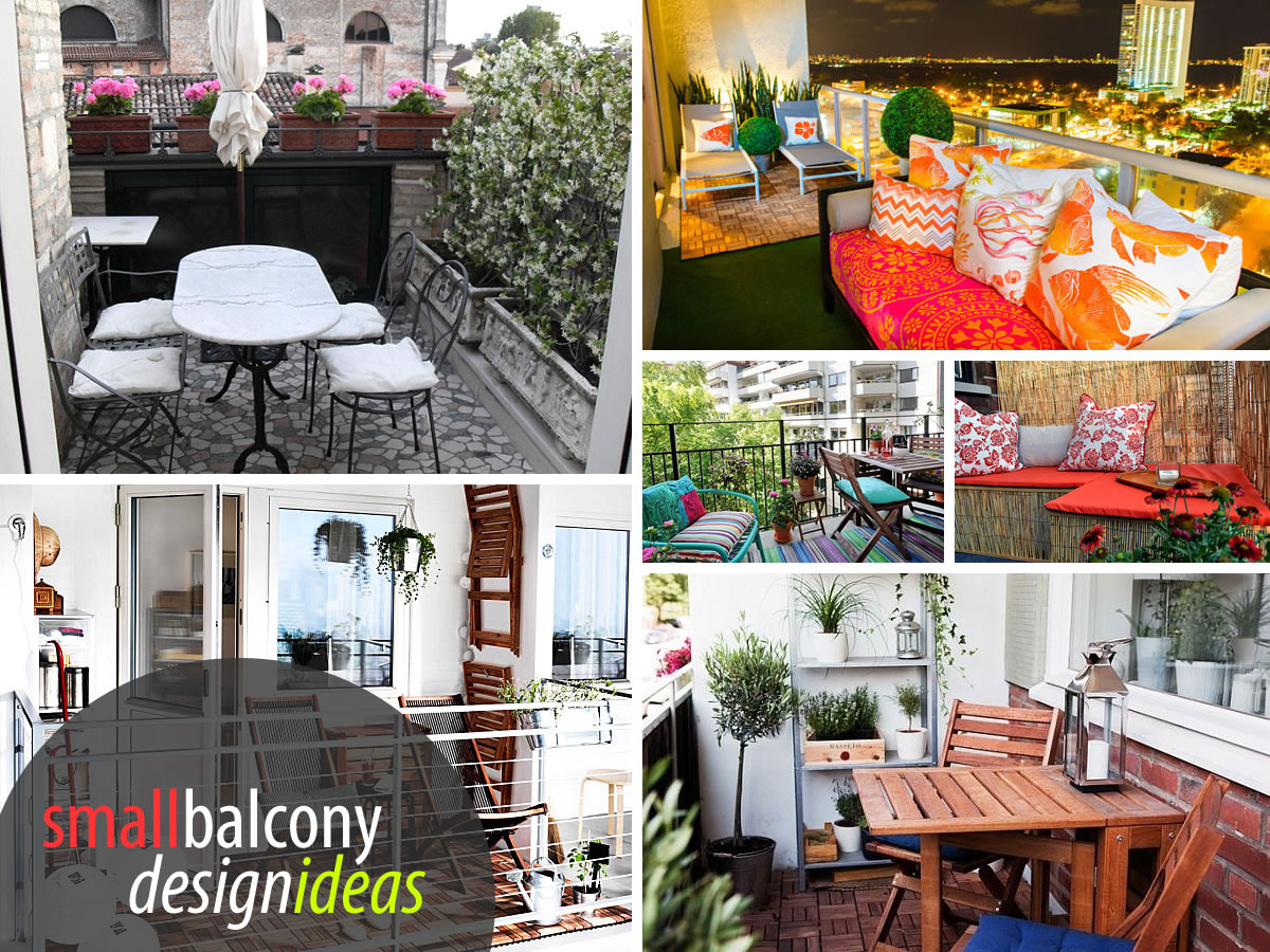 Small balcony design ideas photos and inspiration for Terrace decoration ideas