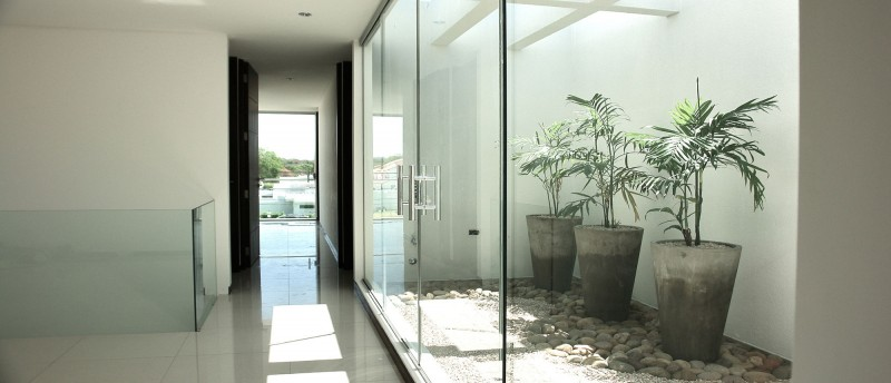 stylish glass interior design