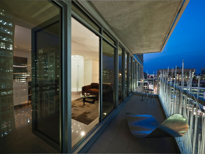 stylish penthouse balcony