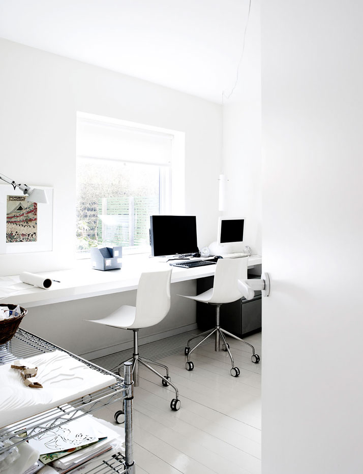white home office - danish design