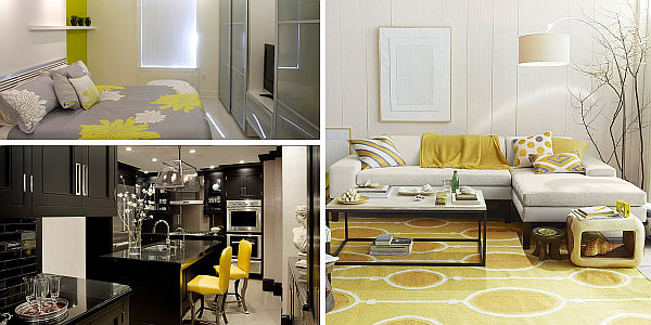 yelow interior design Shades of Yellow for a Golden Interior