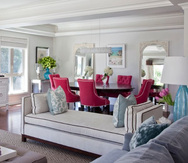 Living Room Teal Accent