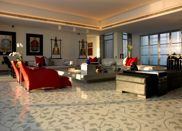 Add a touch of difference with designer gray flooring
