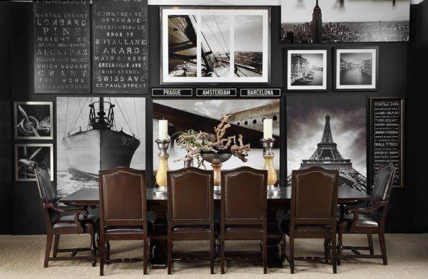 Picture perfect decorate with black and white photographs for Z gallerie dining room inspiration