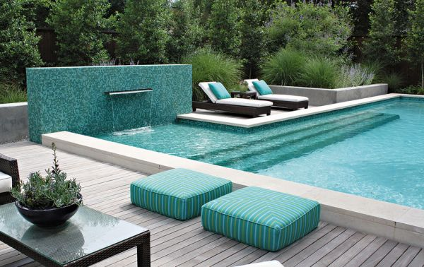 Any shade of turquoise next to the pool is a match made in heaven!