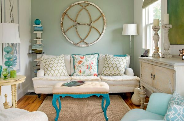 Bright Turquoise table legs steal the show here