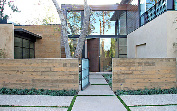 Clean-lined modern landscaping