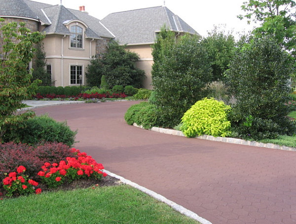 View In Gallery Colorful Driveway Landscaping