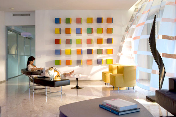 Colorful wall art blocks