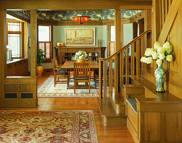 View In Gallery Craftsman Decor With A Tropical Touch