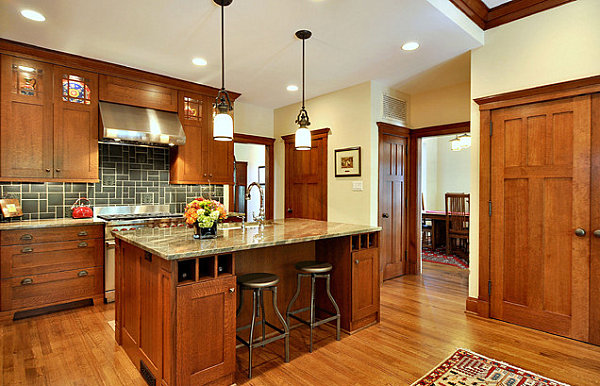 Craftsman style kitchen decoist for Kitchen styles pictures