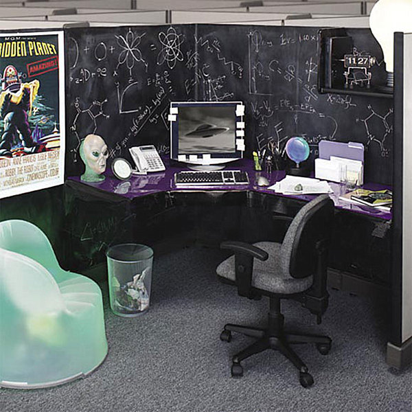 Cubicle with a science fiction motif
