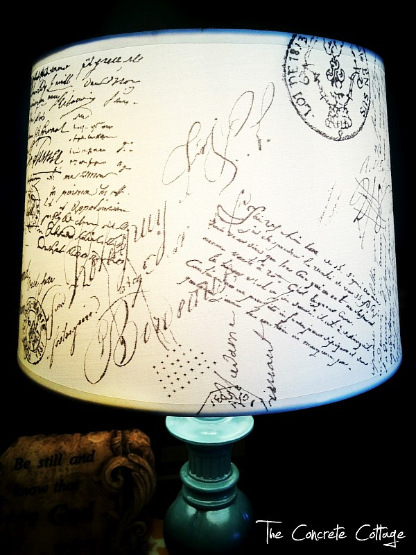 DIY French Script Lampshade Shadow