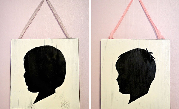Silhouette Wall Art Diy Diy Vintage Wall Art