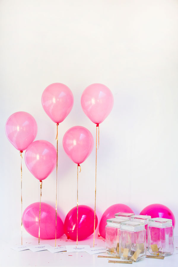 DIY pink balloon awards