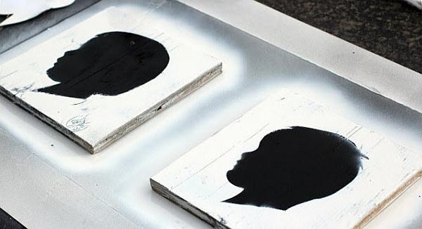 DIY vintage Silhouette wall art