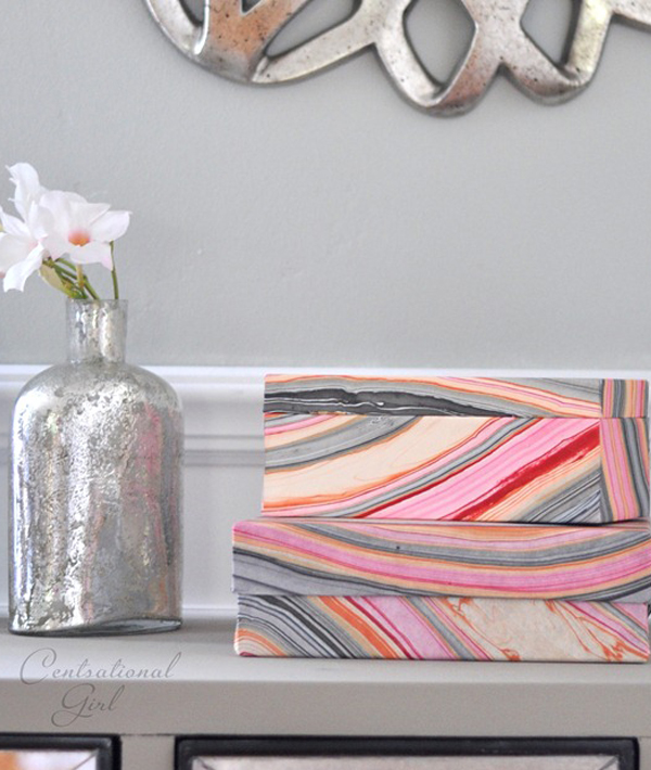 Decorative wallpaper storage boxes