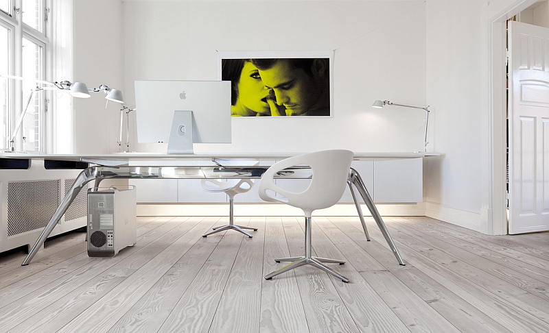 Douglas wood floor home office Worlds Most Beautiful Wood: The Dinesen Story