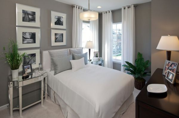 Fabulous bedroom in gray brings home the summer retreat vibe!