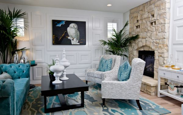 Etonnant View In Gallery Stylish Rug Plays A Pivotal Role In Bringing Color To  Neutral Interiors