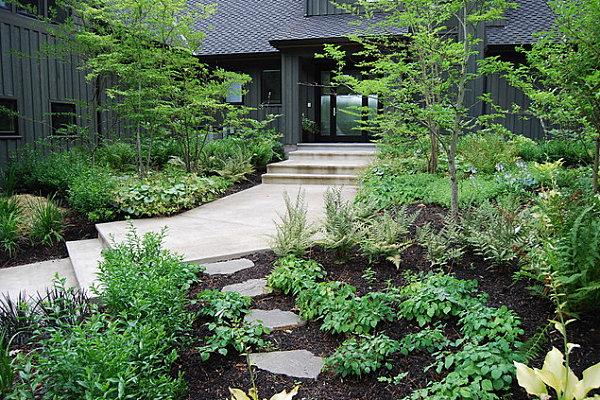 Front yard greenery
