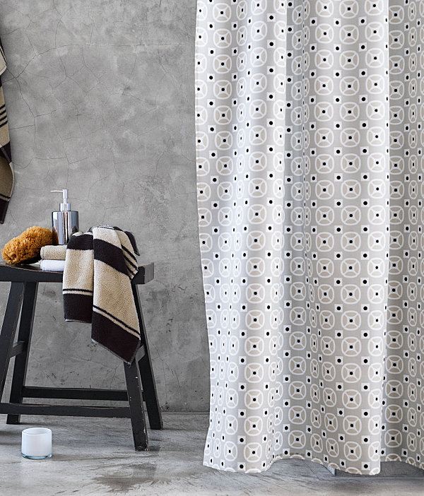 view in gallery geometric shower curtain - Bathroom Designs With Shower Curtains