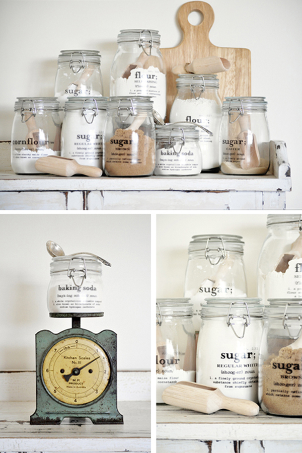 Glass canister pantry storage