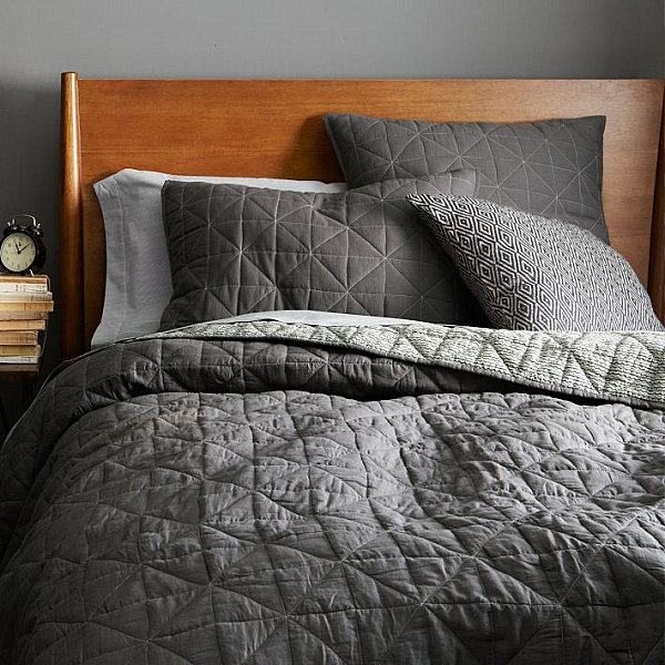 Dark Grey Bed Cover