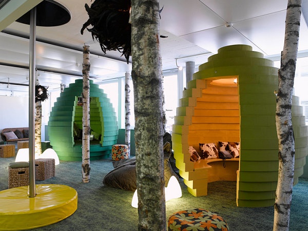 Hive style Google cubicles Office Spaces: Amazing Cubicles with Modern Style