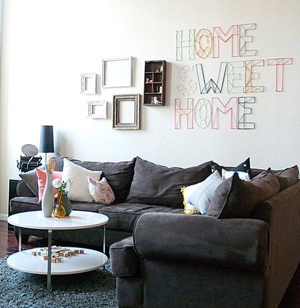 Home Sweet Home DIY yarn art