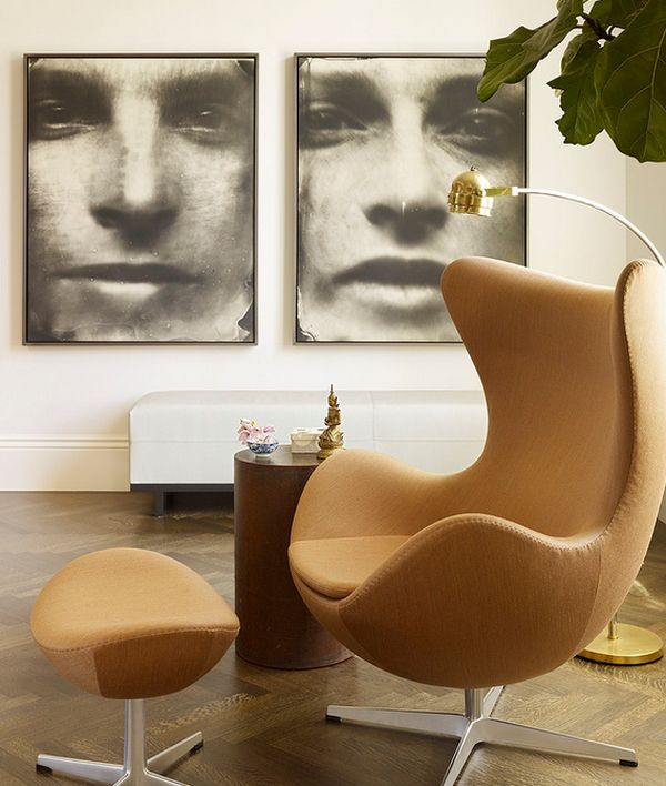 Iconic artist Sally Mann's photographs form a perfect backdrop for the Egg Chair