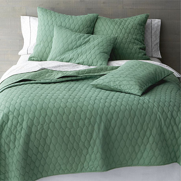 Jade green bed linens 17 Fabulous Modern Bedding Finds