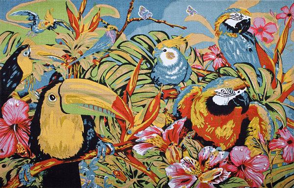 Jungle motif rug