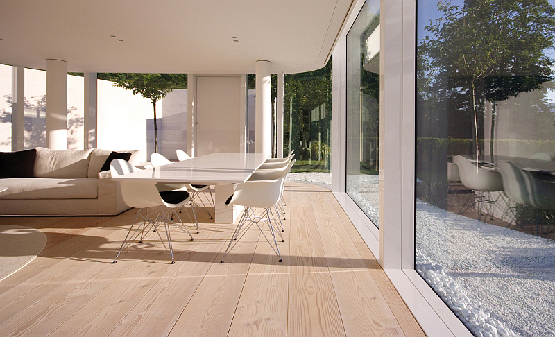 Lake Lugano house wih Dinesen douglas wood floor