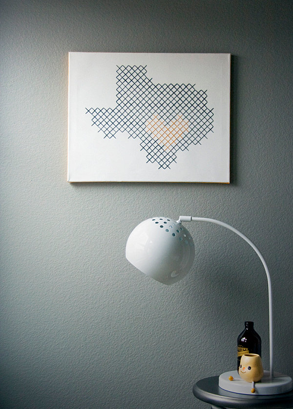 Large cross-stitch DIY project
