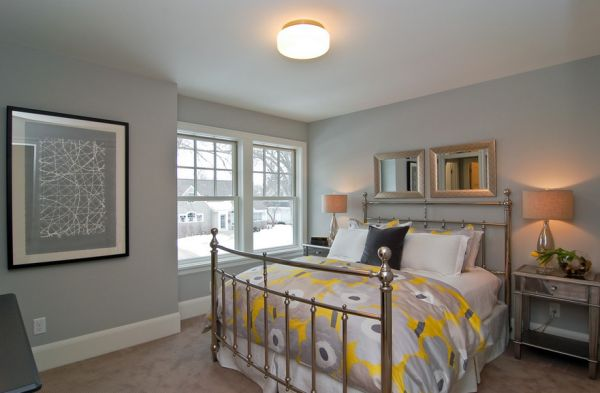 Lighter tones of gray can be as uplifting as some of the bolder colors