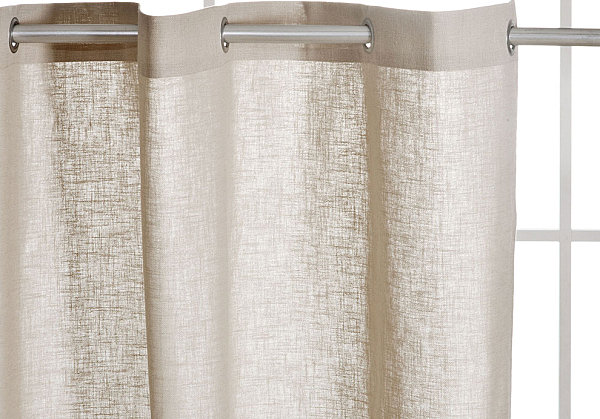 View In Gallery Linen Shower Curtain