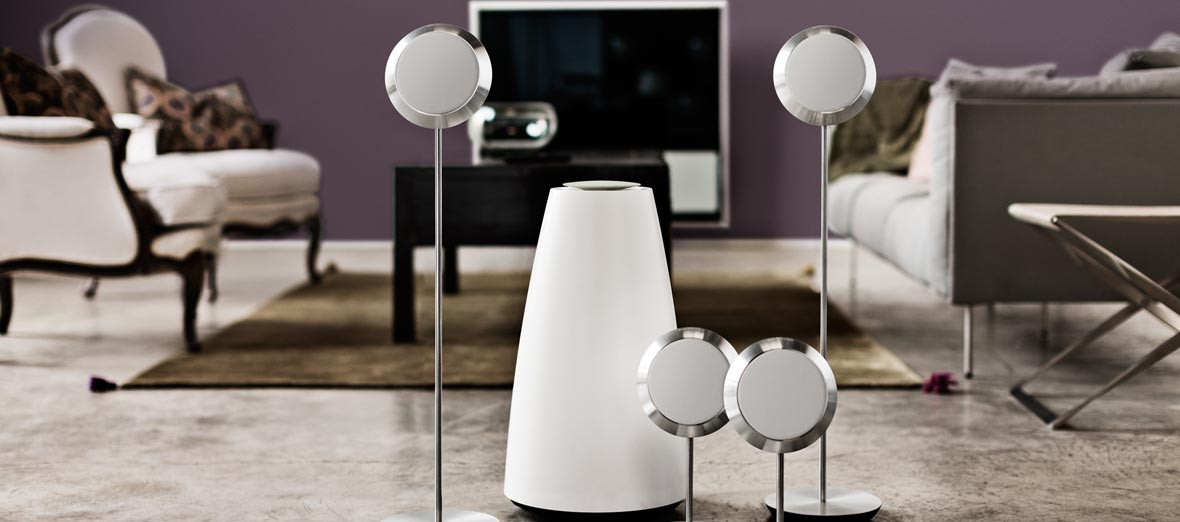 Living room decor BeoLab 14 Bang & Olufsen: Combining Contemporary Scandinavian Design With Stunning Acoustics [Interview]