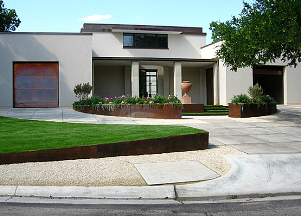 View in gallery Manicured front yard Manicured front yard. Another modern  landscape standout?