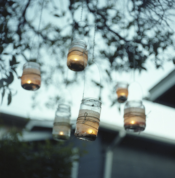 Mason jar tree lanterns