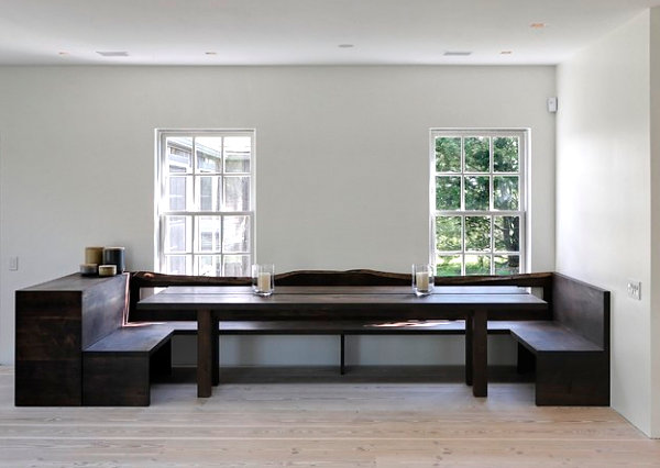 Minimalist modern country dining room