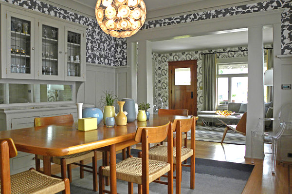 View in gallery modern craftsman style dining room