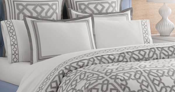 Modern bedding from Jonathan Adler